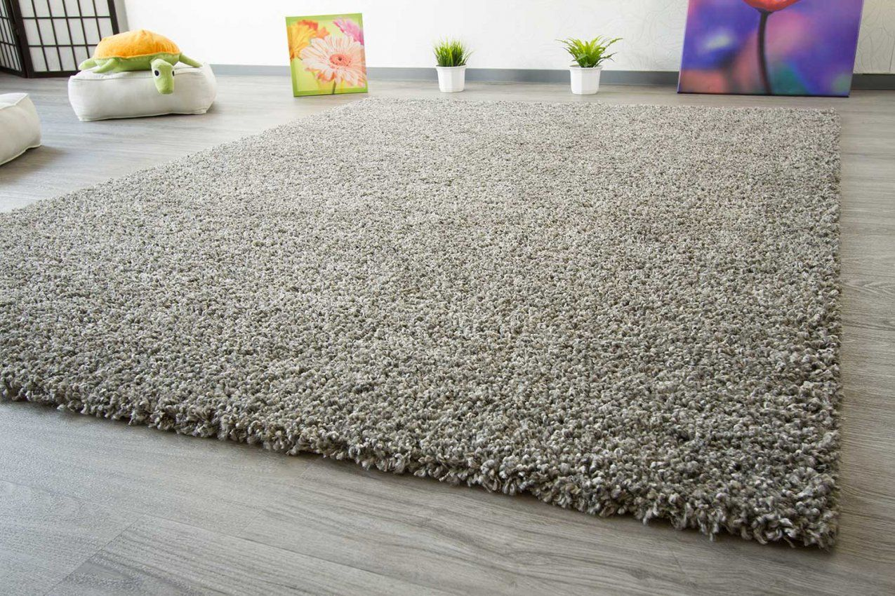 Hochflor Teppich Funny Soft Touch  Globalcarpet von Hochflor Teppich Grau 160X230 Bild