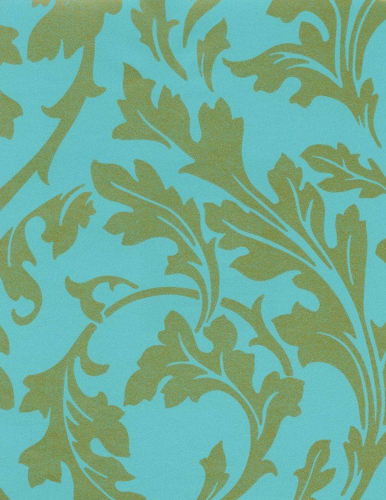Hochwertige Tapeten Und Stoffe  Vliestapete Barock Blau Gold 310065 von Barock Tapete Blau Gold Photo