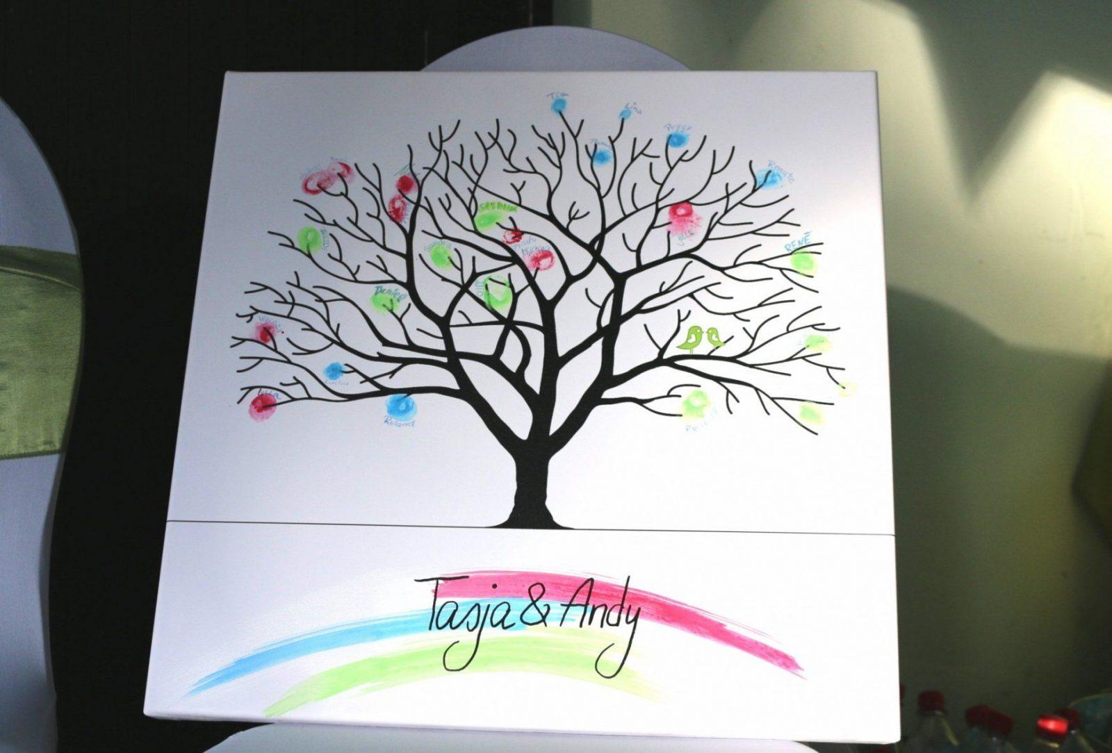 Hochzeitsbaum Auf Leinwand Selbst Gestalten von Leinwandbilder Selber Malen Vorlagen Photo