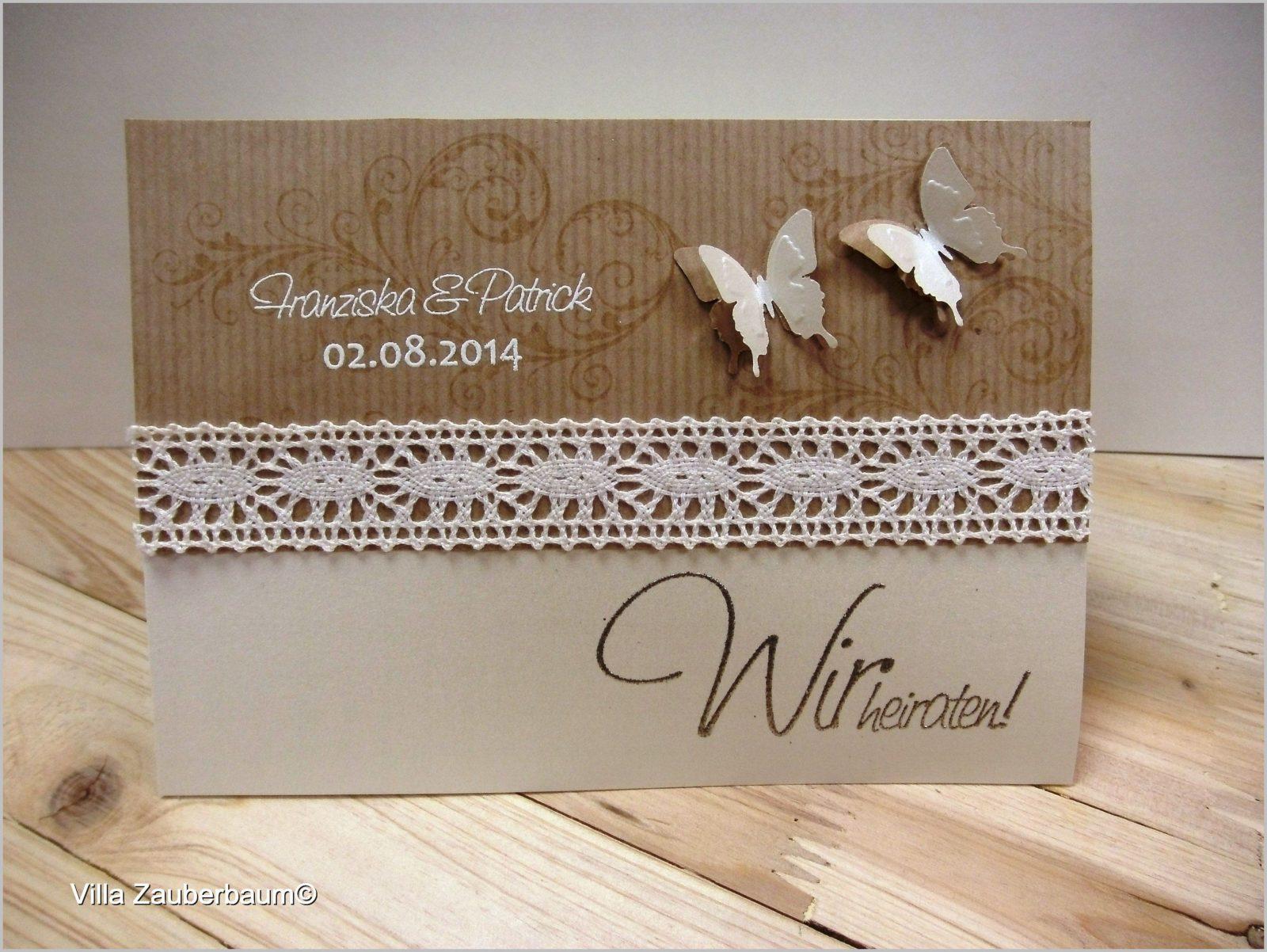 Hochzeitseinladung Vintage Butterfly Bastelset Von Hochzeitskarten