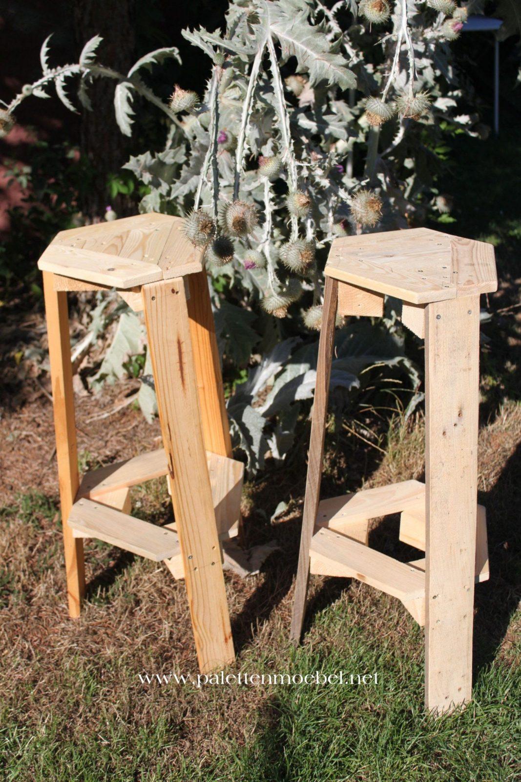 Hocker Aus Paletten  Blumenständer Selber Bauen  Youtube von Blumenständer Holz Selber Bauen Photo