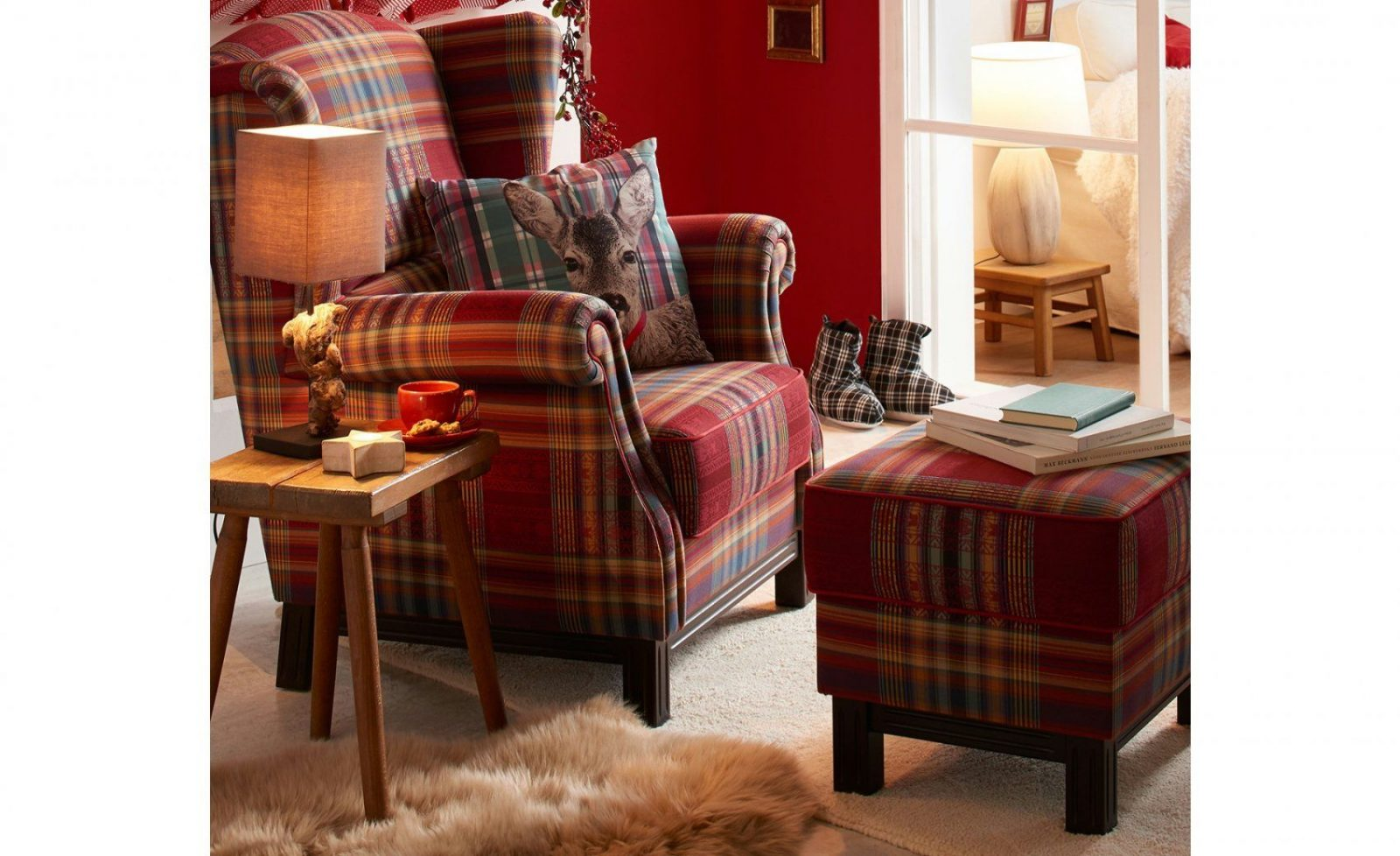 Hocker Newport  Möbel Höffner von Ohrensessel Mit Hocker Landhausstil Bild