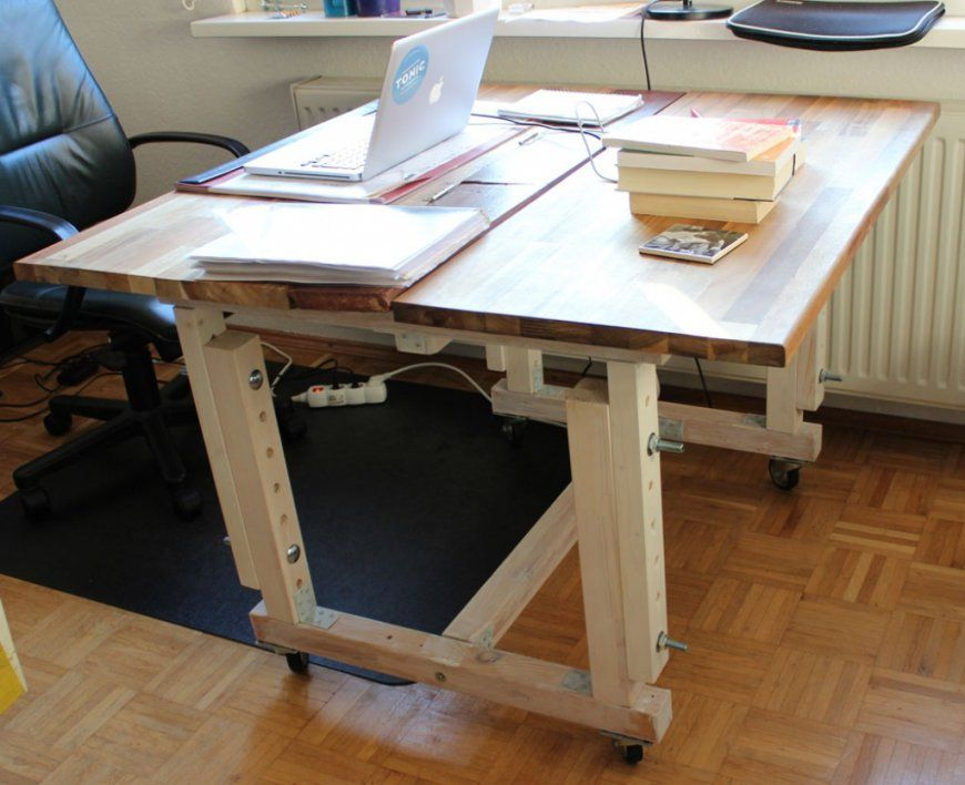 Höhenverstellbarer Schreibtisch Selber Bauen Furchtbar Auf Kreative von Höhenverstellbarer Schreibtisch Selber Bauen Photo