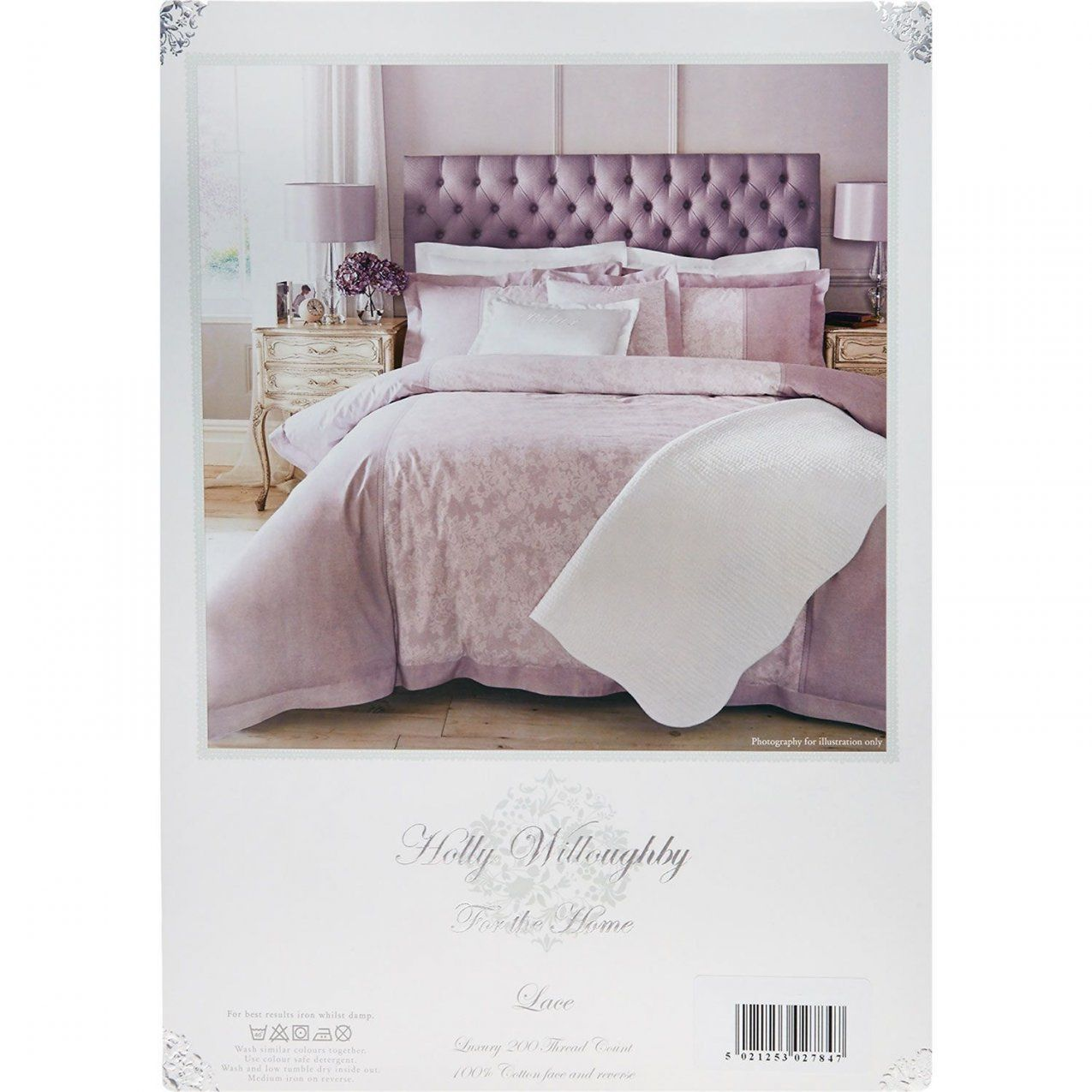 "Holly Willoughby"" King Heather Lace Print Duvet Cover 200Tc  Tk von Tk Maxx Bettwäsche Bild"