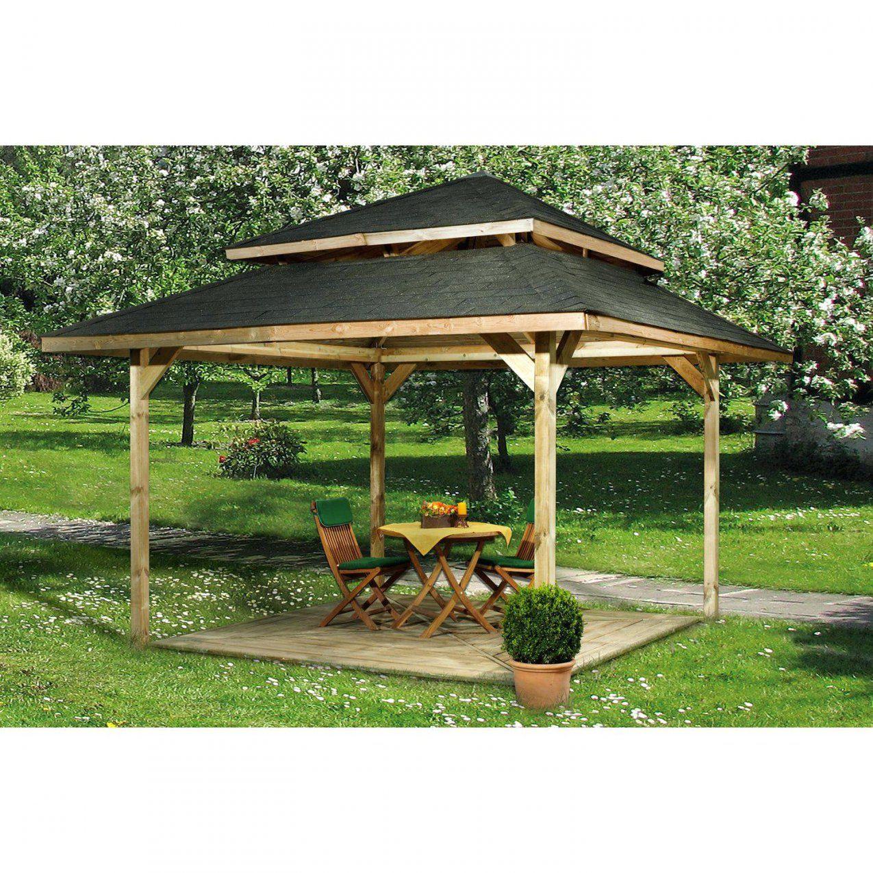 Holz Gartenpavillon Gallery Of Pavillon 3×3 With 3X3M Bauplan Aus von Gartenpavillon Aus Holz Selber Bauen Photo