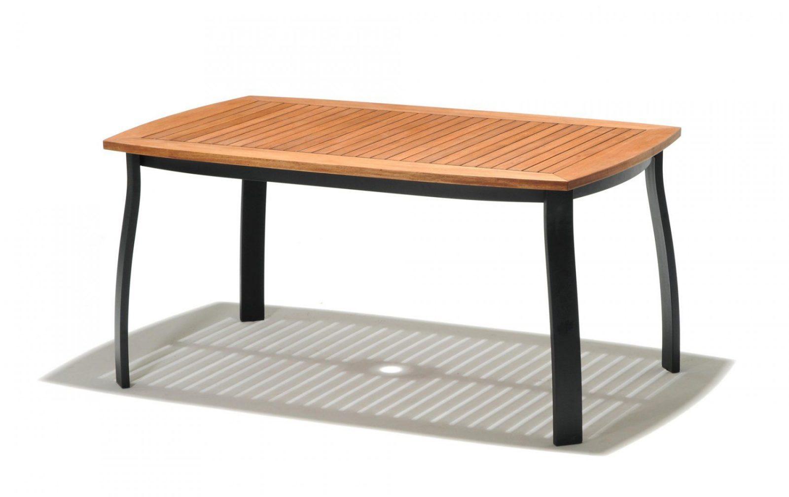 Holz Gartentisch Awesome Divero Gartentisch Balkontisch Tisch von Alu Gartentisch Mit Holzplatte Bild