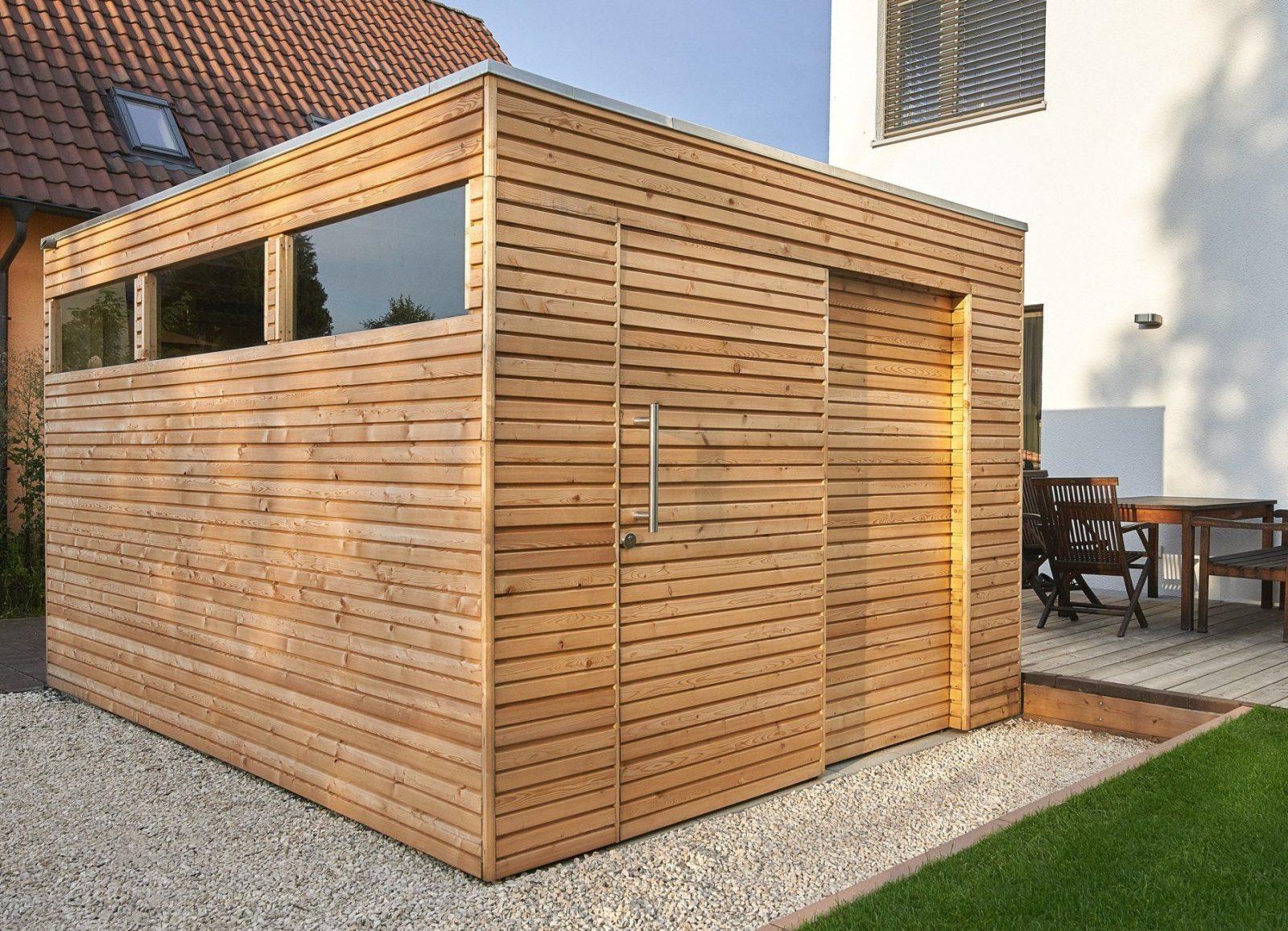 Holz Geräteschuppen Elegant Gartenhaus Flachdach Selber Bauen von Holzhaus Selber Bauen Anleitung Bild