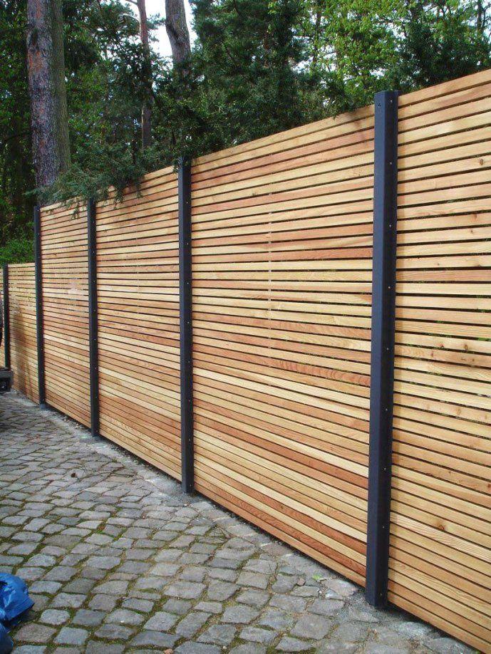 Holz Metall Günstig Lärche Höhe Grau Weiß Aus Holz Avec Avec Selber von Sichtschutzzaun Holz Selber Bauen Bild