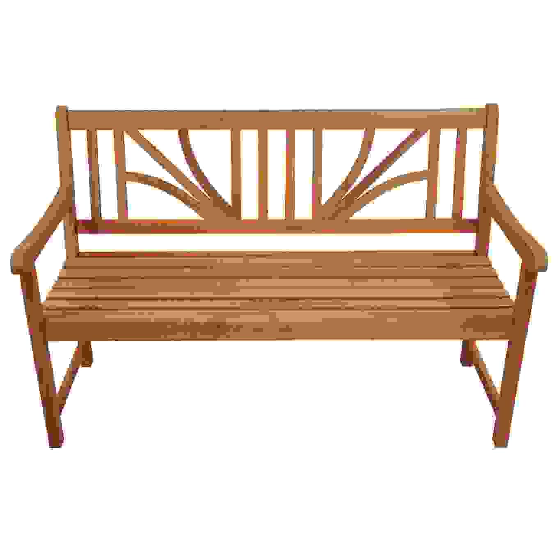 Holzbank Lotus 2 5 Sitzer Eukalyptus 135X61X88Cm Gartenbank Ist von Gartenbank Eukalyptus 2 Sitzer Holzbank Bild