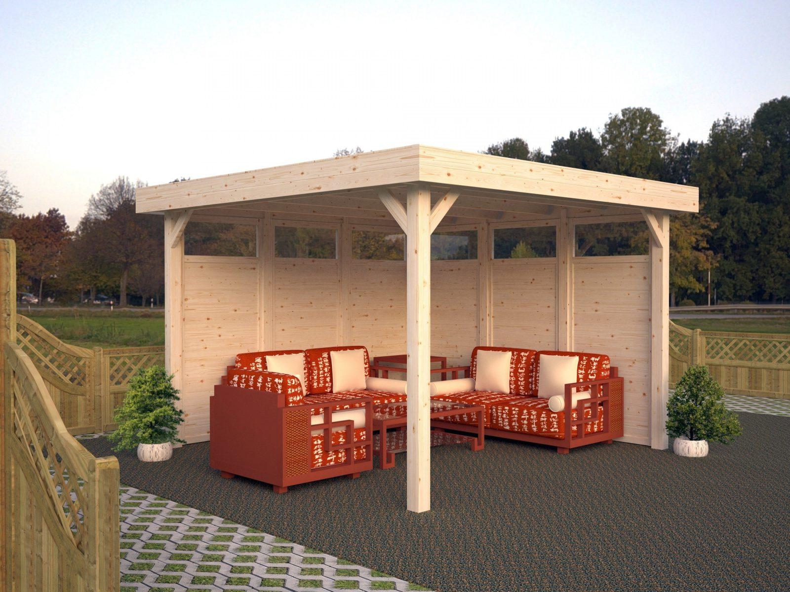 Holzpavillon Kaufen  Holzpavillonbausätze Vom Fachmann von Holz Pavillon Bausatz Günstig Bild