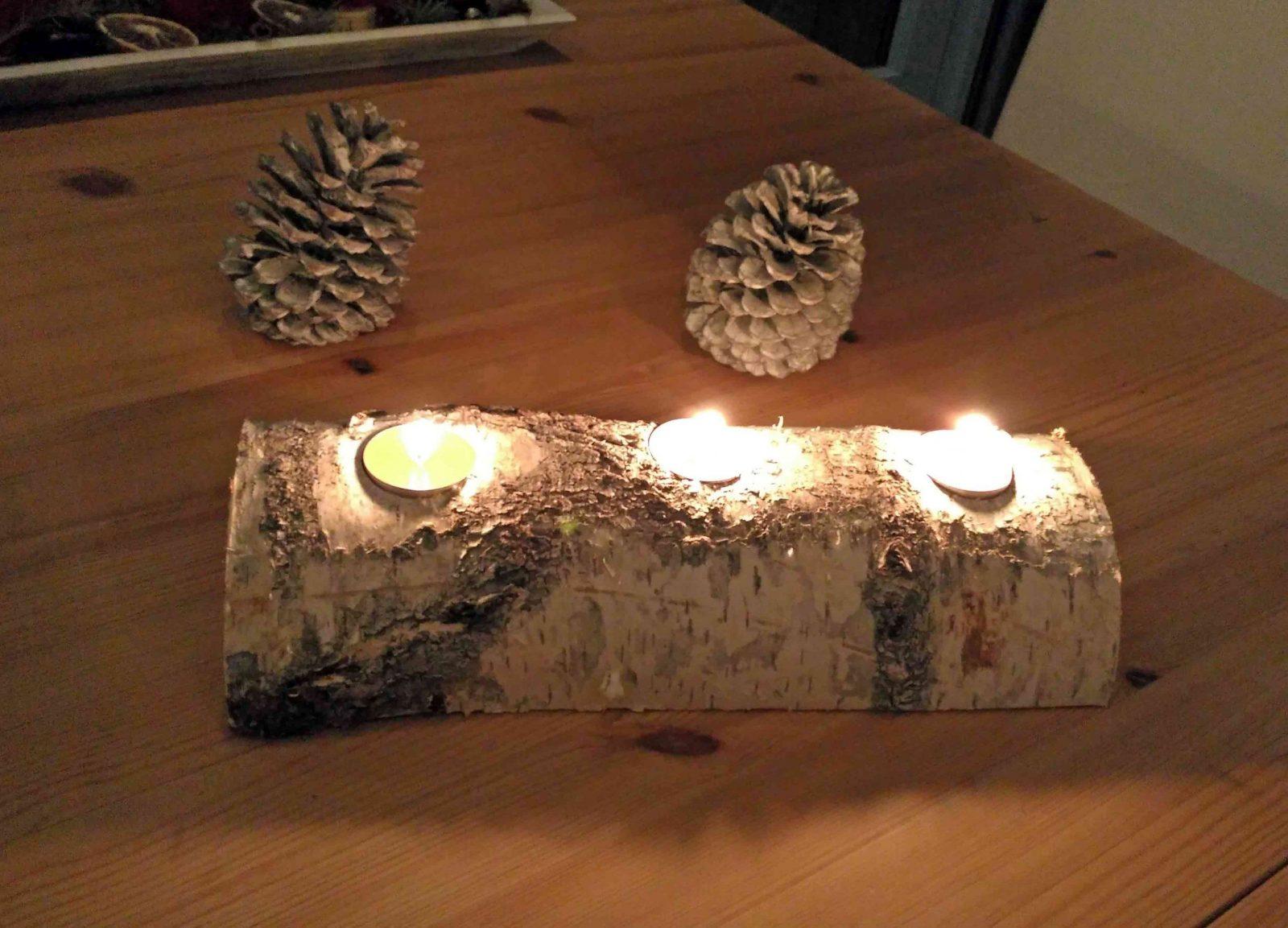 Holzteelichthalter Basteln  Der Wohnsinn von Kerzenständer Selber Machen Holz Photo