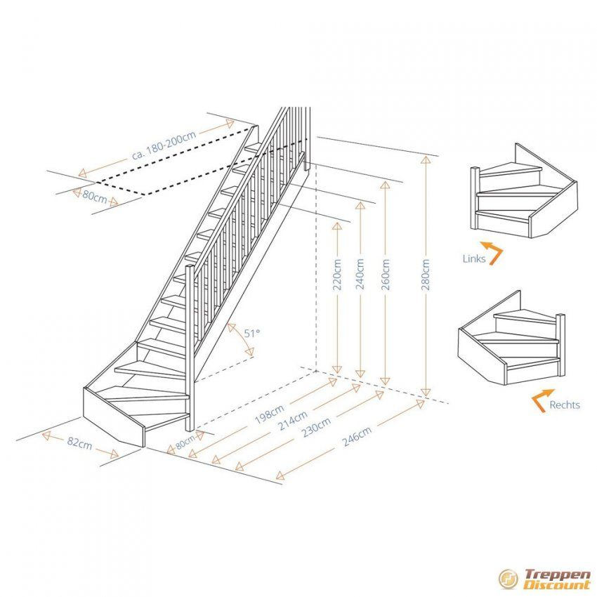 Holztreppe Buche 14 Gewendelt Mit Geländer von 1 4 Gewendelte Treppe Berechnen Bild