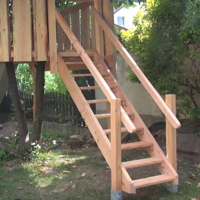 Holztreppe Selber Bauen von Holztreppe Außen Selber Bauen Bild