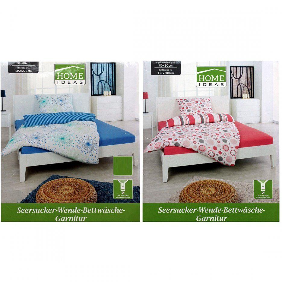 Home Ideas Seersuckerwendebettwäschegarnitur 135X200 Bzw 155X220 von Home Ideas Bettwäsche Photo