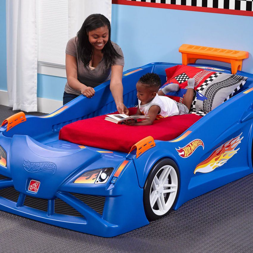 Hot Wheels Toddler To Twin Race Car Bed Kids Bed Step2 Toddler Bed von Toddler Car Bed For Boys Bild