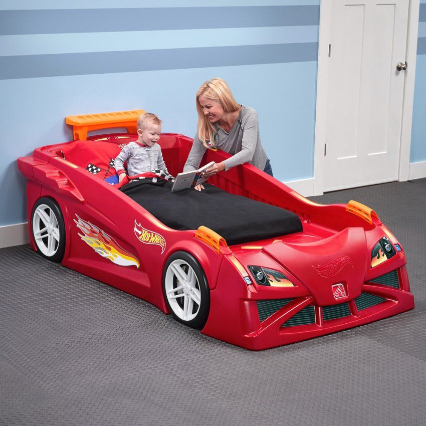 Hot Wheels Toddlertotwin Race Car Bed Red  Kids Bed  Step2 von Toddler Car Bed For Boys Photo