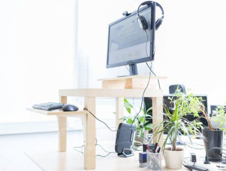 How To Anleitung Zum Stehschreibtisch Selber Bauen von Höhenverstellbarer Schreibtisch Selber Bauen Bild