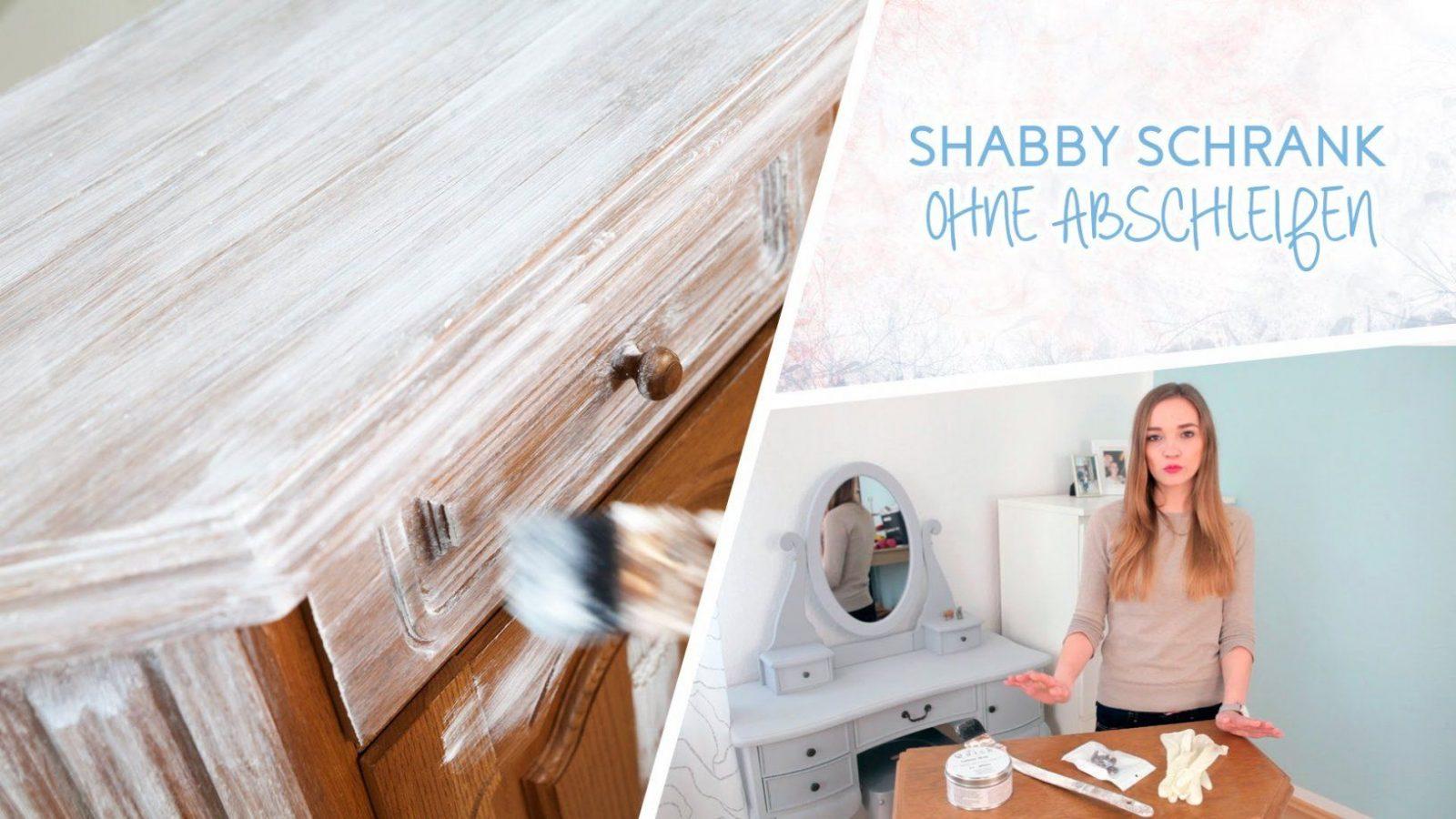 How To Schrank Im Shabby Chic Stil Streichen Ohne Abscheifen  Youtube von Schrank Weiß Streichen Ohne Schleifen Bild