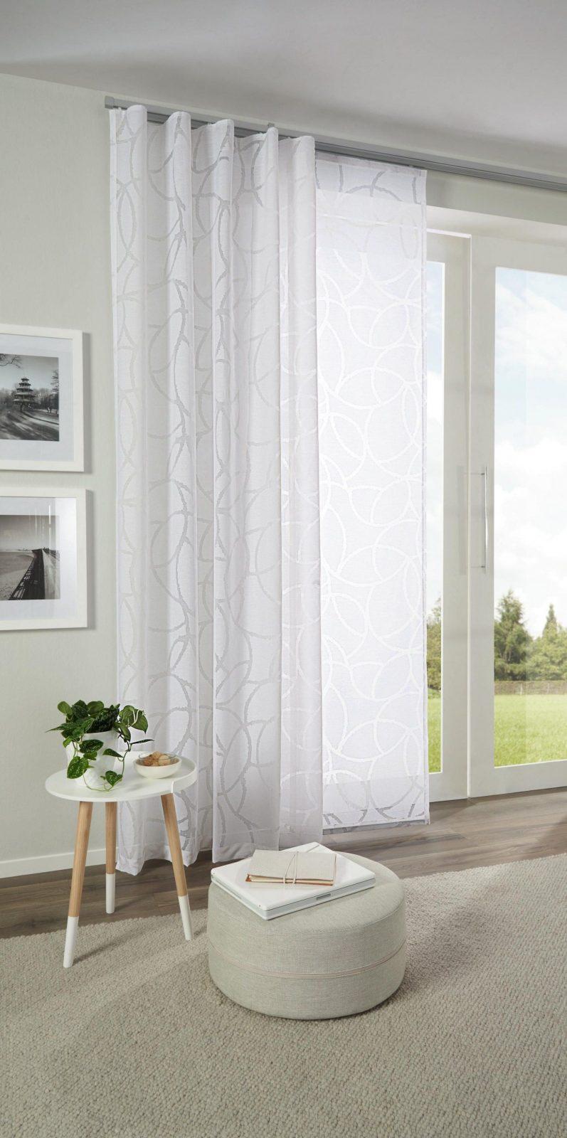 Hübscher Vorhang Mit Zartem Muster In Weiß Von Esposa  Curtains von Wohnzimmer Gardinen Angebote Photo