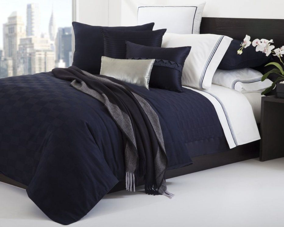 Hugo Boss Windsor Navy Duvet Cover Set Luxury Meets Simplicity And von Bettwäsche Hugo Boss Bild