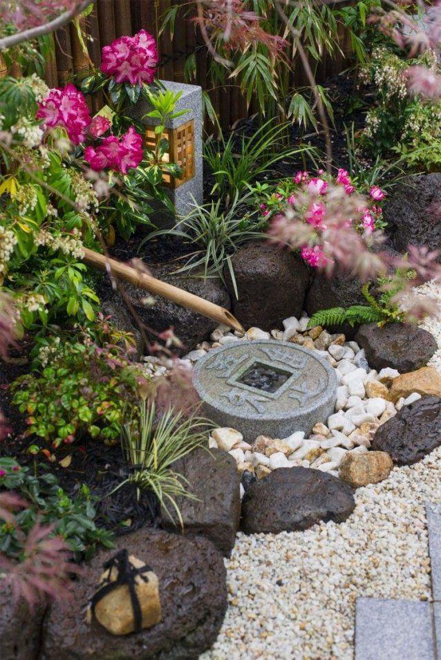 Ideen Deko Kleiner Japanischer Garten Brunnen Steine Garden Ideas