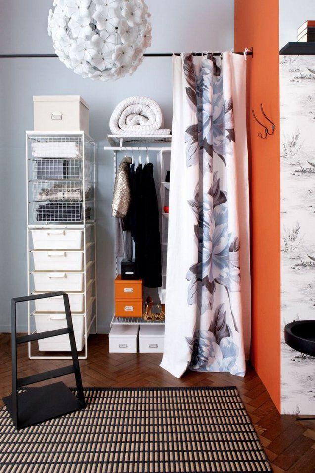 Ideen Für Offenen Kleiderschrank Im Schlafzimmer von Kleiderschrank Mit Vorhang Statt Türen Photo