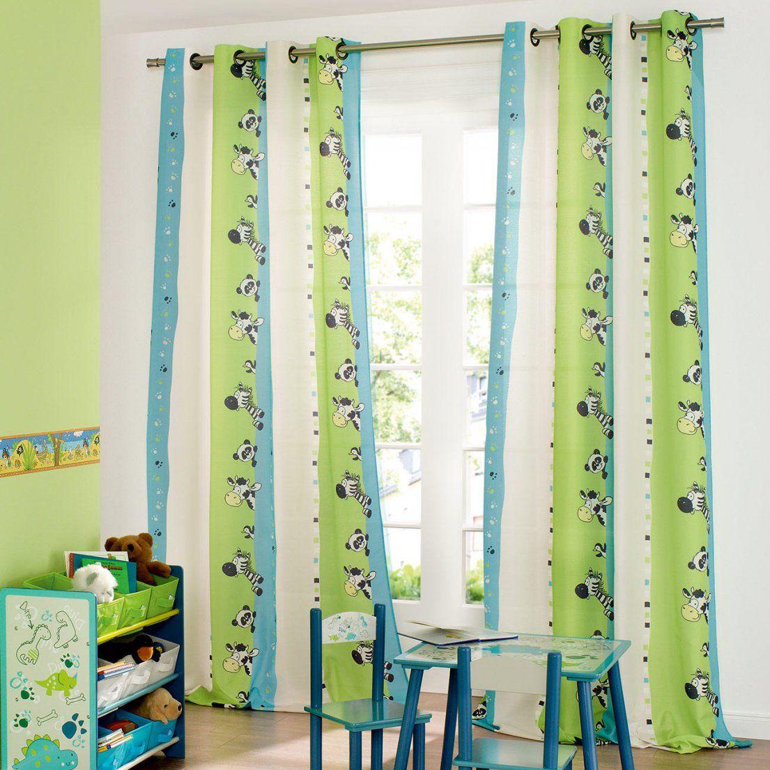 Ideen Vorhang Kinderzimmer Grün Und Herausragende Zebre 1 3 Jahre von Pro Idee Gardinen Photo