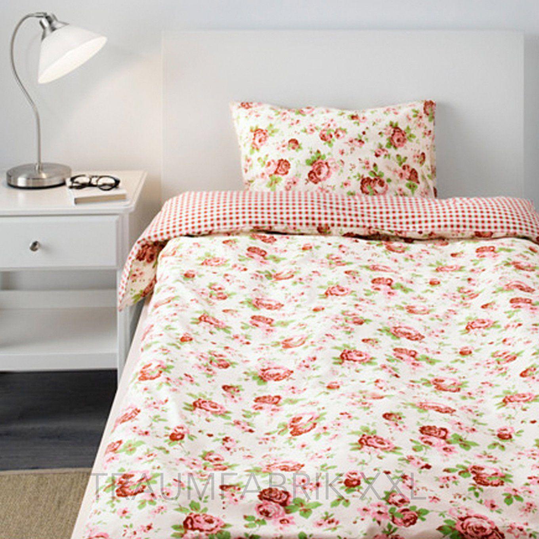 Ikea Bettwäsche Bettwäscheset Rosali 2Teilig 80×80 Und 140×200 Cm von Bettwäsche Ikea Blumen Photo