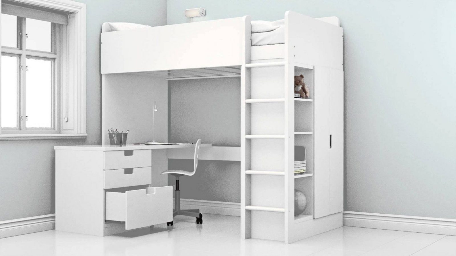 Ikea  Das Neue Stuva Hochbett  Youtube von Hochbett Mit Schreibtisch Ikea Bild