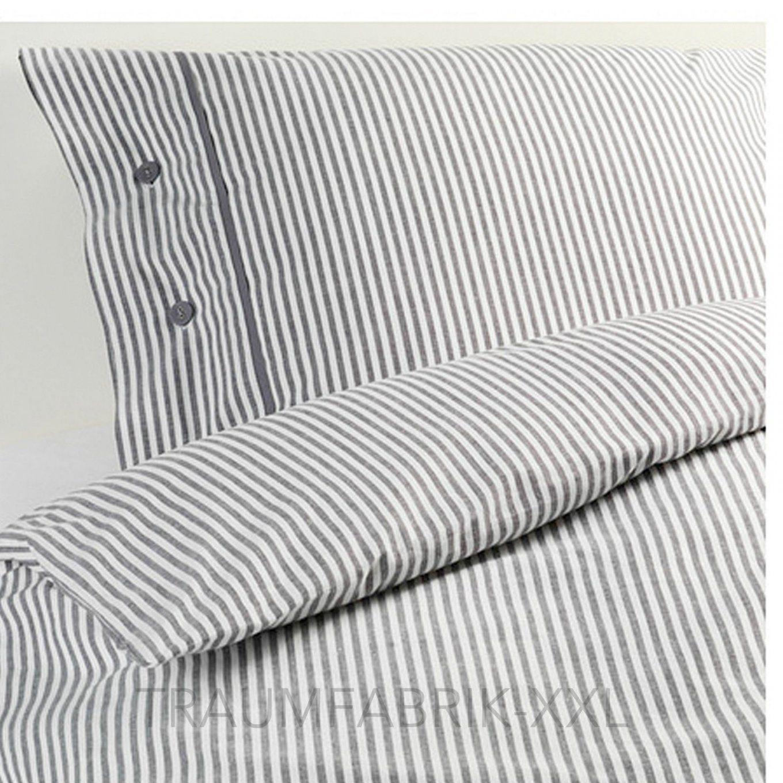 Ikea Designer Bettwäsche Set Bettgarnitur Baumwolle 140×200 Cm Grau von Ikea Bettwäsche Grau Weiß Photo