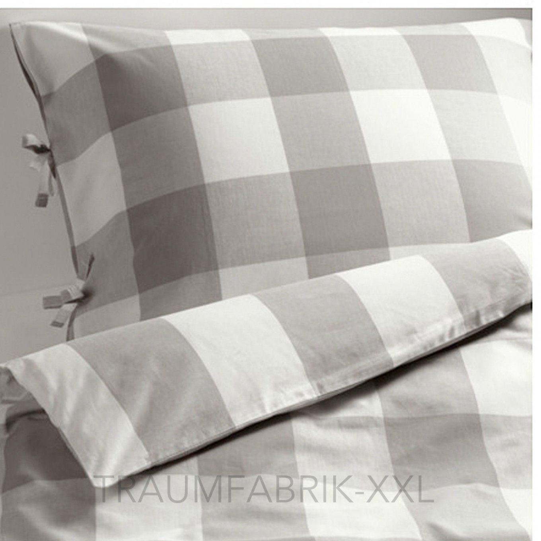 Ikea Designer Bettwäsche Set Bettgarnitur Baumwolle 140×200 Cm Weiß von Ikea Bettwäsche Grau Weiß Photo