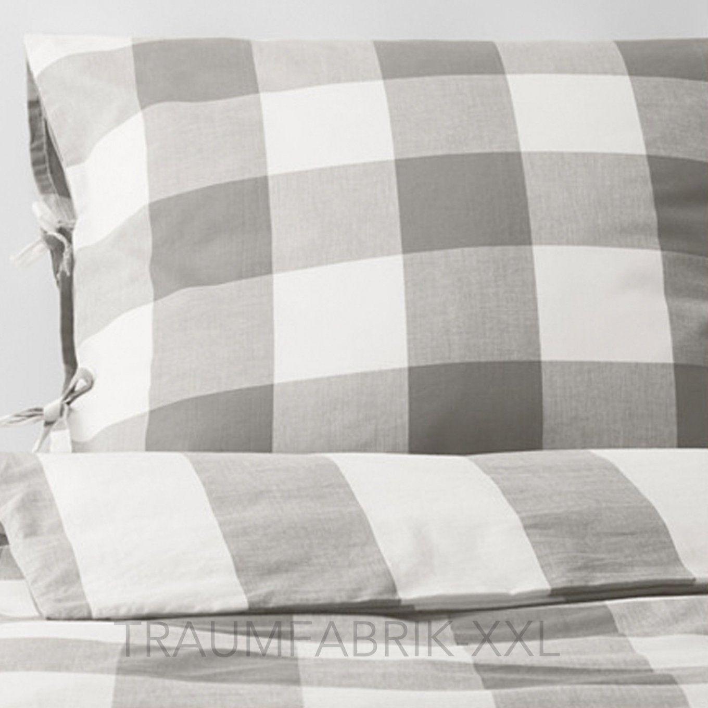 Ikea Emmie Ruta Bettwäsche Bettbezug 140×200 Cm Bettwäscheset 2Tlg von Ikea Bettwäsche Grau Weiß Bild