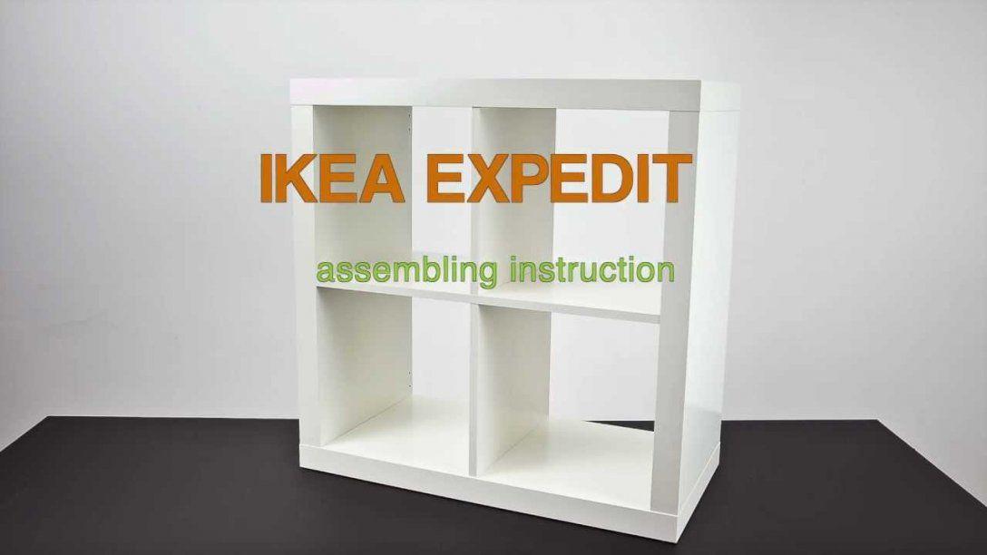 Ikea Expedit  Assembling Instruction  Zusammenbau Anleitung  Youtube von Ikea Regal Kallax Aufbauanleitung Bild