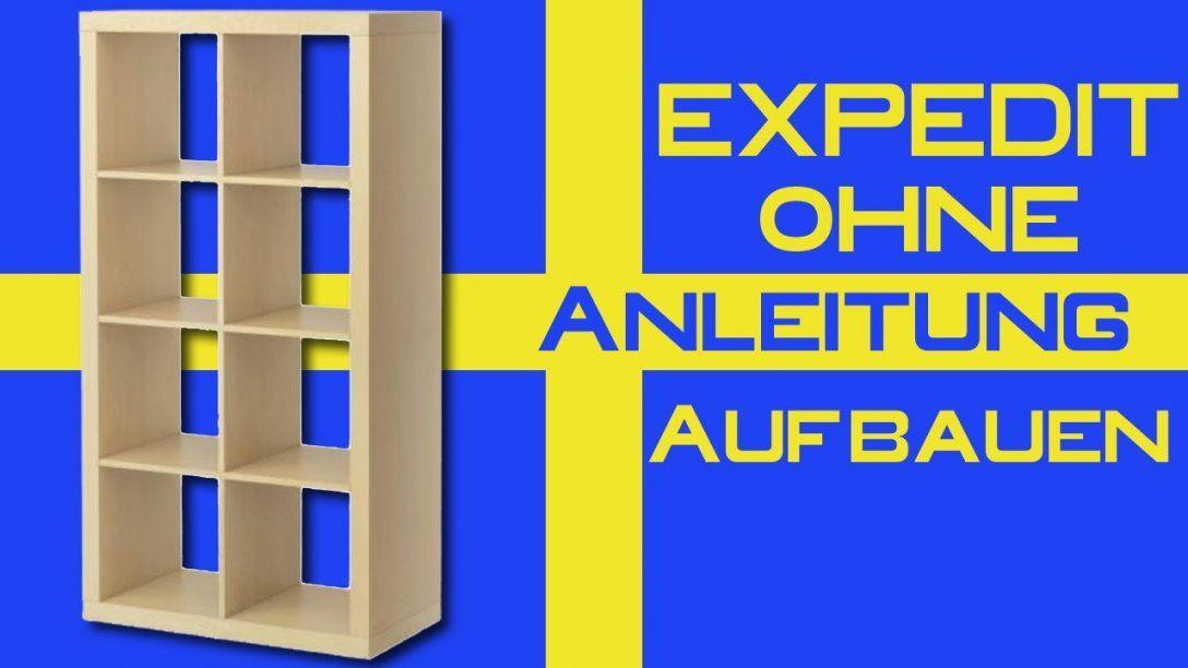 Ikea Expedit Ohne Anleitung Aufbauen  Youtube von Ikea Regal Kallax Aufbauanleitung Bild