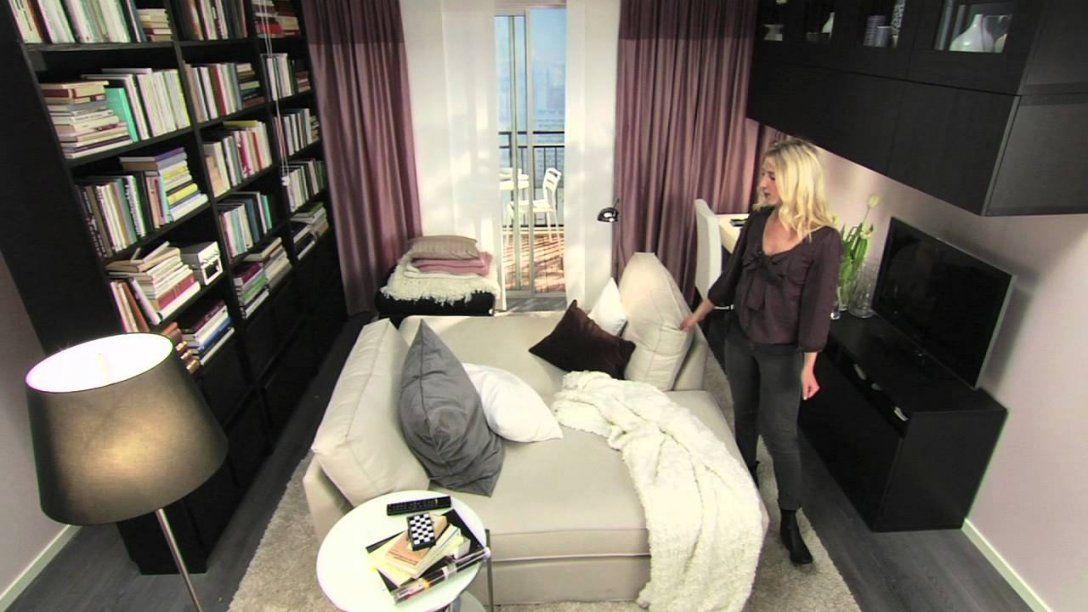 Ikea Für Kleine Räume 10 M² Mehr Zweisamkeit  Youtube von Ikea Kleine Räume Schlafzimmer Bild
