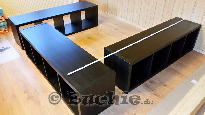 Ikea Hack  So Wird Aus Kallax Regalen Ein Bett  Buchie von Kallax Regal Selber Bauen Photo