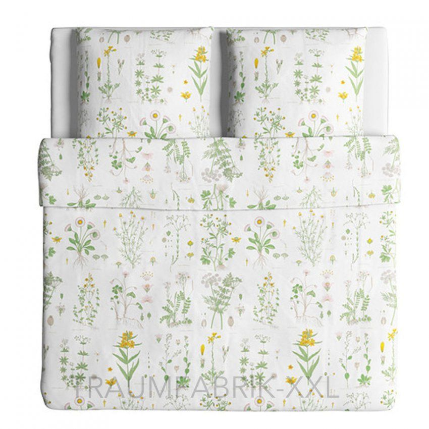 Ikea Strandkrypa Bettwäsche 3Tlg Bettbezug 240X220 Cm Bettwäscheset von Bettwäsche Ikea Blumen Photo