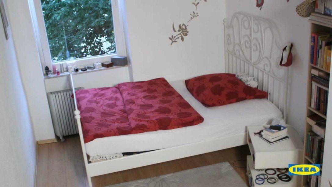 Ikea Verwirklicht Ideen Schlafzimmer Mit Ausstrahlung  Youtube von Ikea Kleine Räume Schlafzimmer Photo
