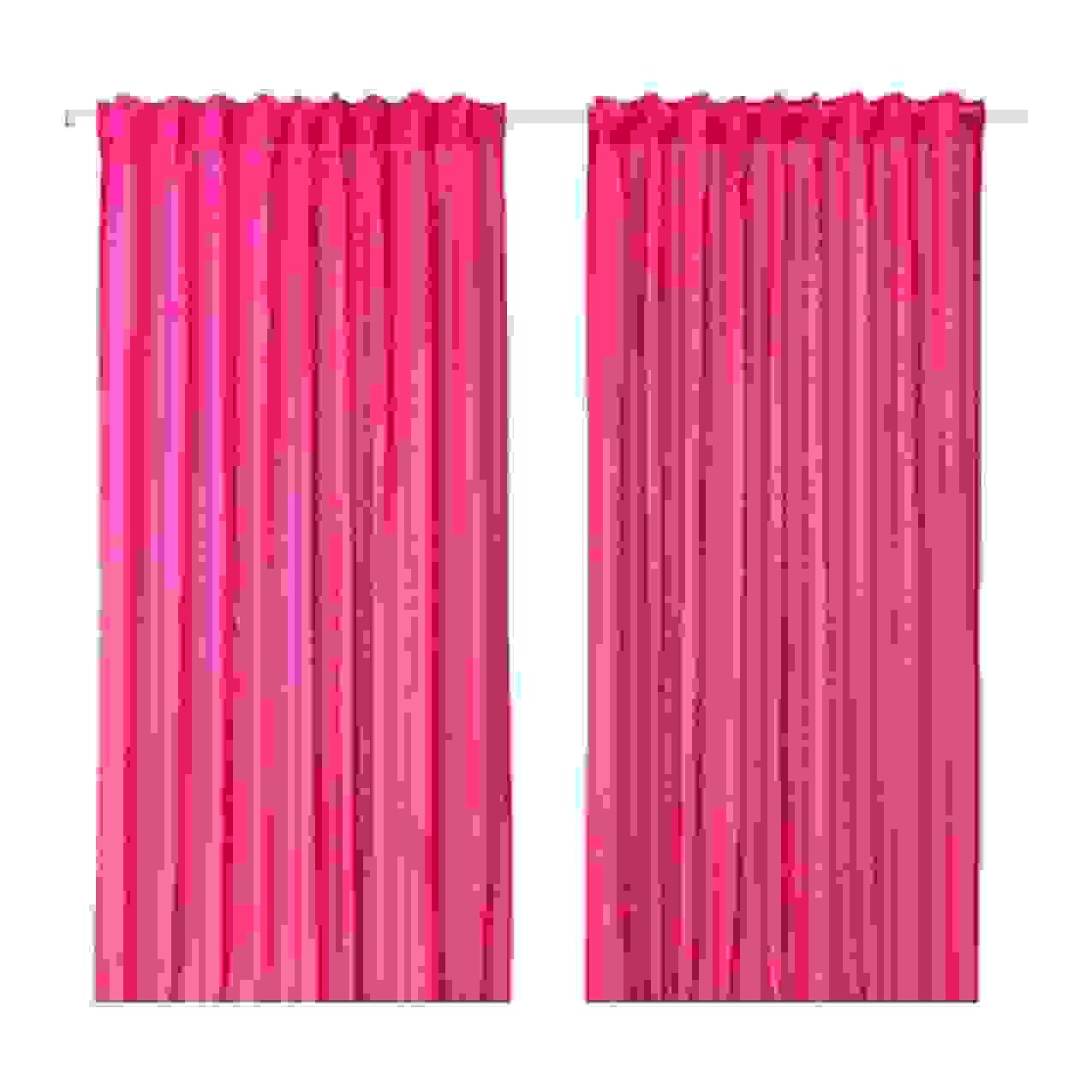 Ikea Vivan 2X Gardinenschal Vorhangset Vorhänge 300 Cm X 145 Cm von Gardinen Rosa Ikea Bild