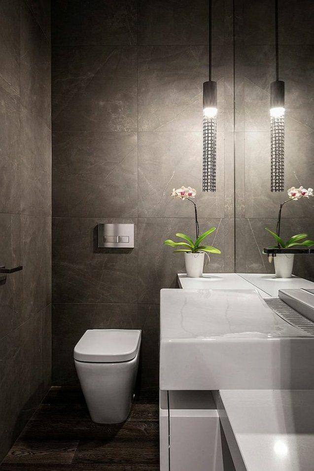 Im Gäste Wc Ist Die Beleuchtung Von Großer Bedeutung  Badezimmer von Gäste Wc Design Ideen Photo