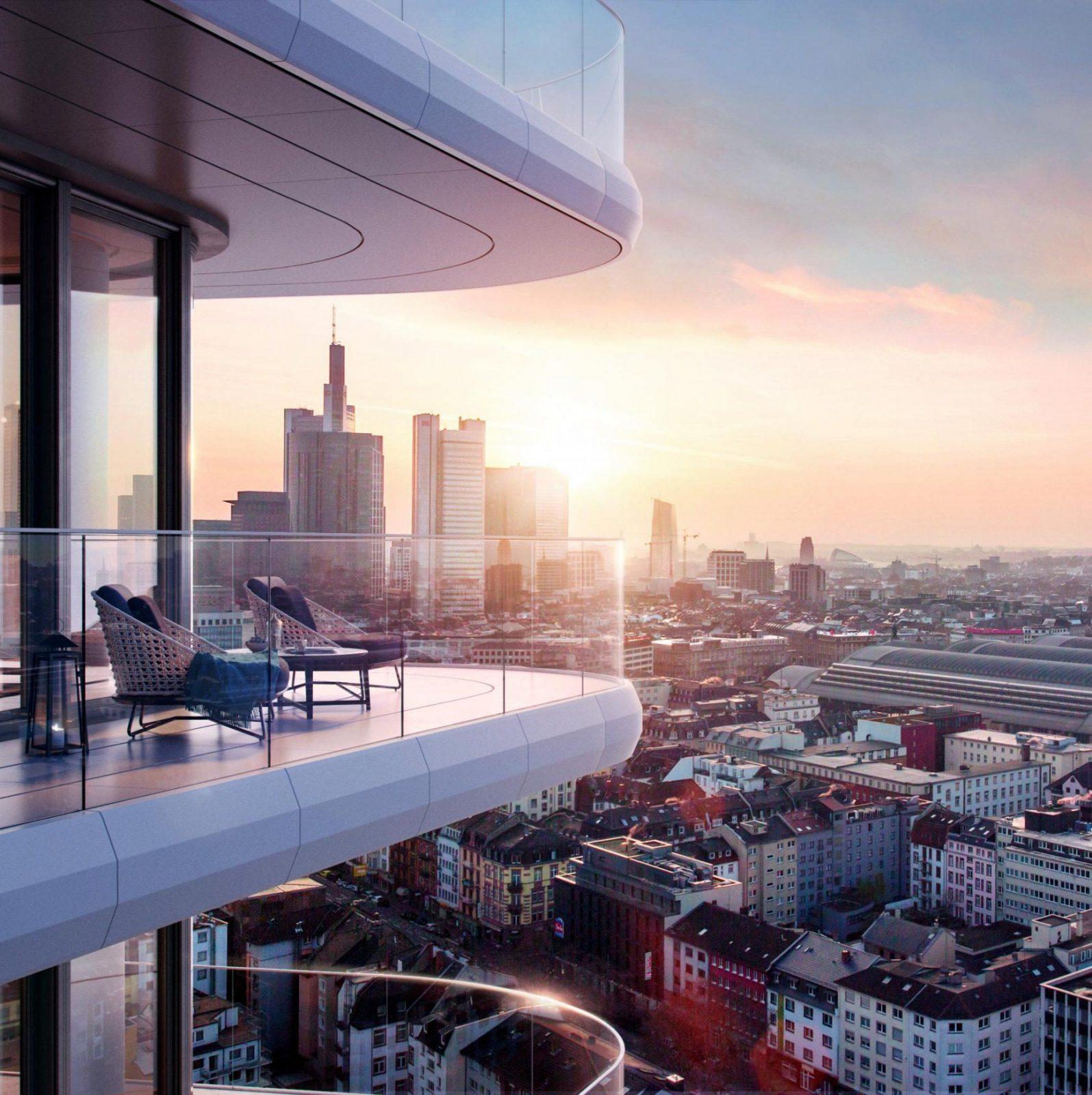 Immobilien In Frankfurt Mit Dem Kopf In Den Wolken von Henninger Turm Wohnung Kaufen Photo