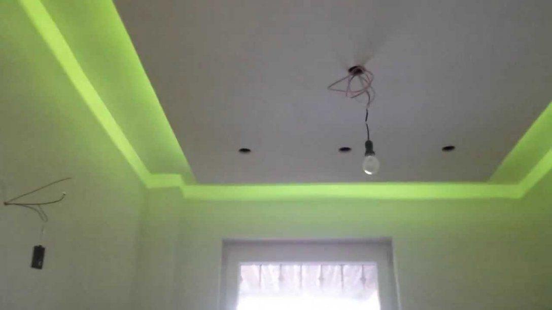 Indirektes Licht Trockenbau Abgehängte Decke Led Bad Ambilight  Youtube von Indirekte Beleuchtung Abgehängte Decke Bild
