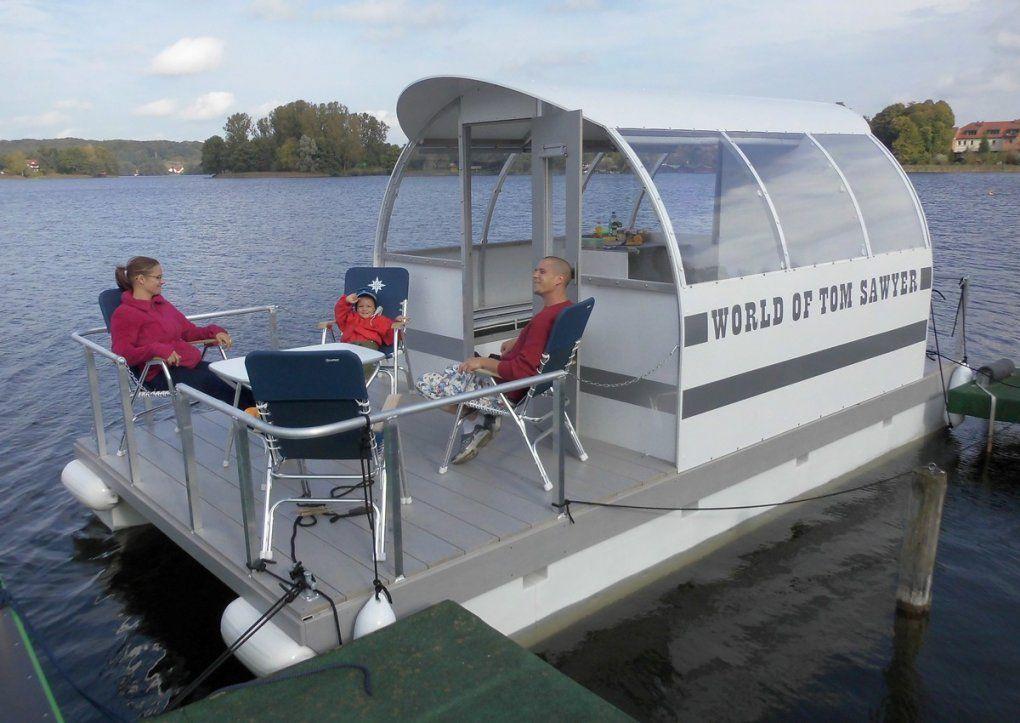 Individualboote  Nach Kundenwunsch  Tom Sawyer Boats  Flösse Und von Ponton Hausboot Selber Bauen Bild