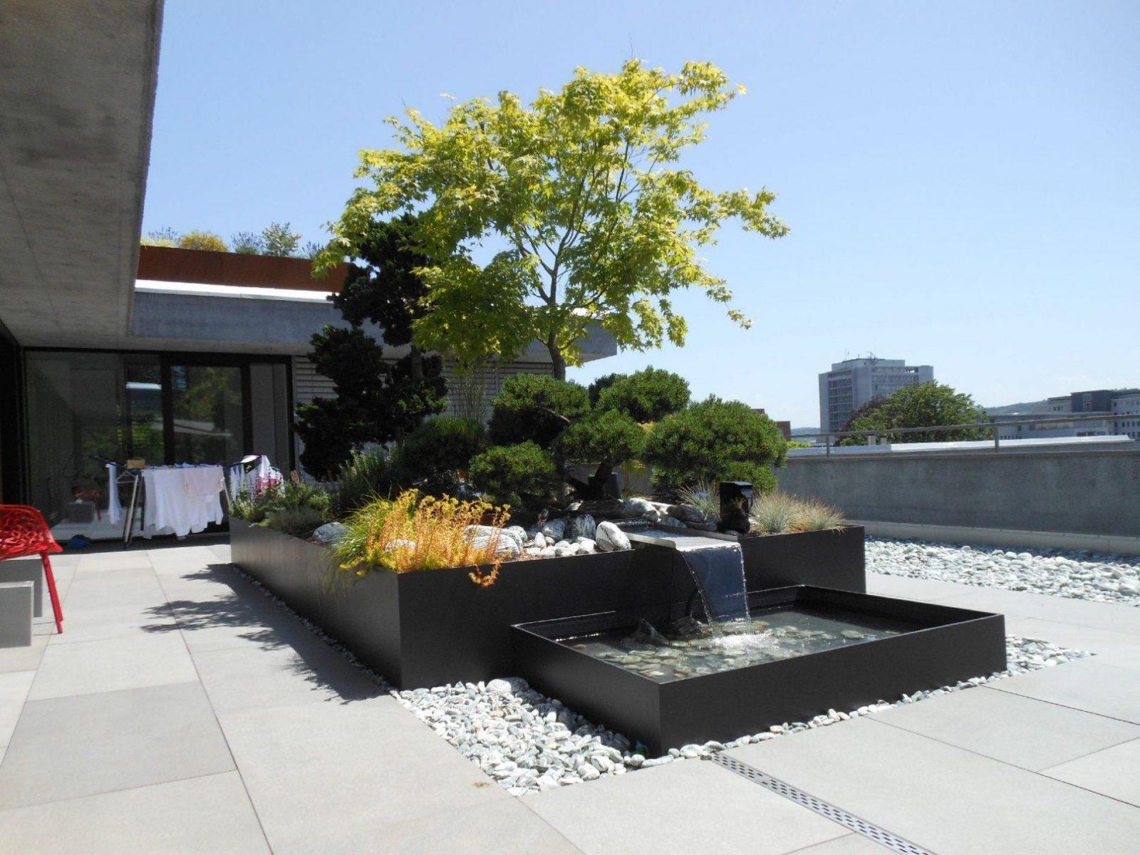 Individuelle Wasserspiele Für Terrassen Balkone Und Gärten  Bacher von Moderne Wasserspiele Für Den Garten Photo
