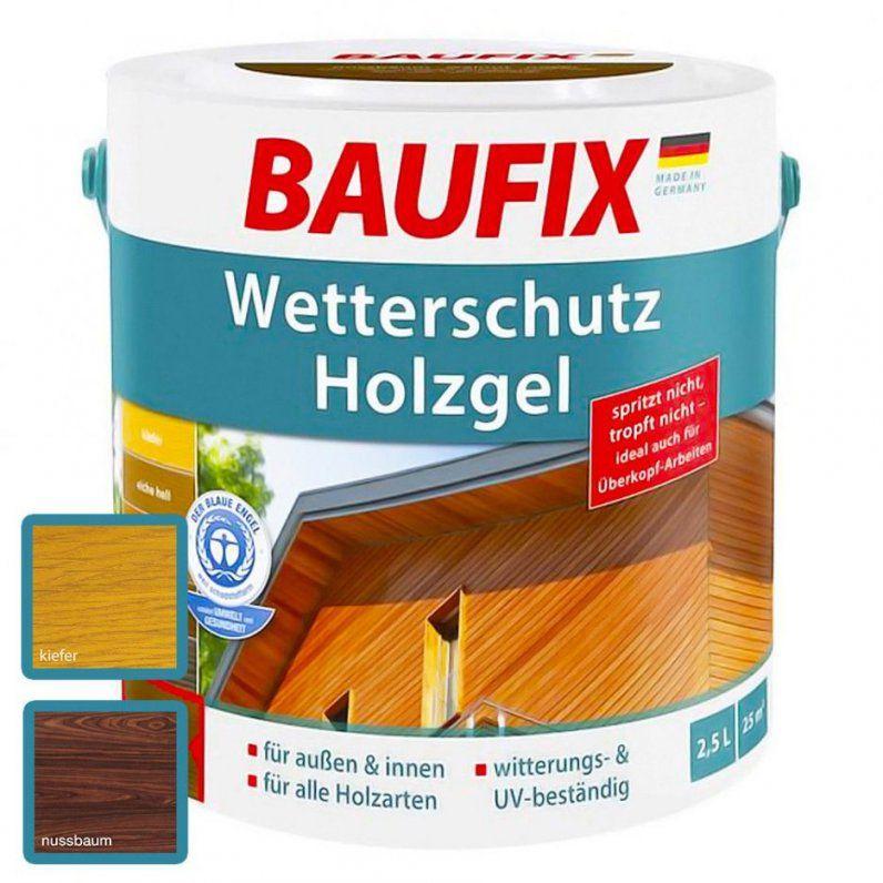 Innenarchitektur  Baufix Wetterschutz Holzgel Farbe Kiefer Nussbaum von Baufix Pur Langzeitlasur Nussbaum Bild