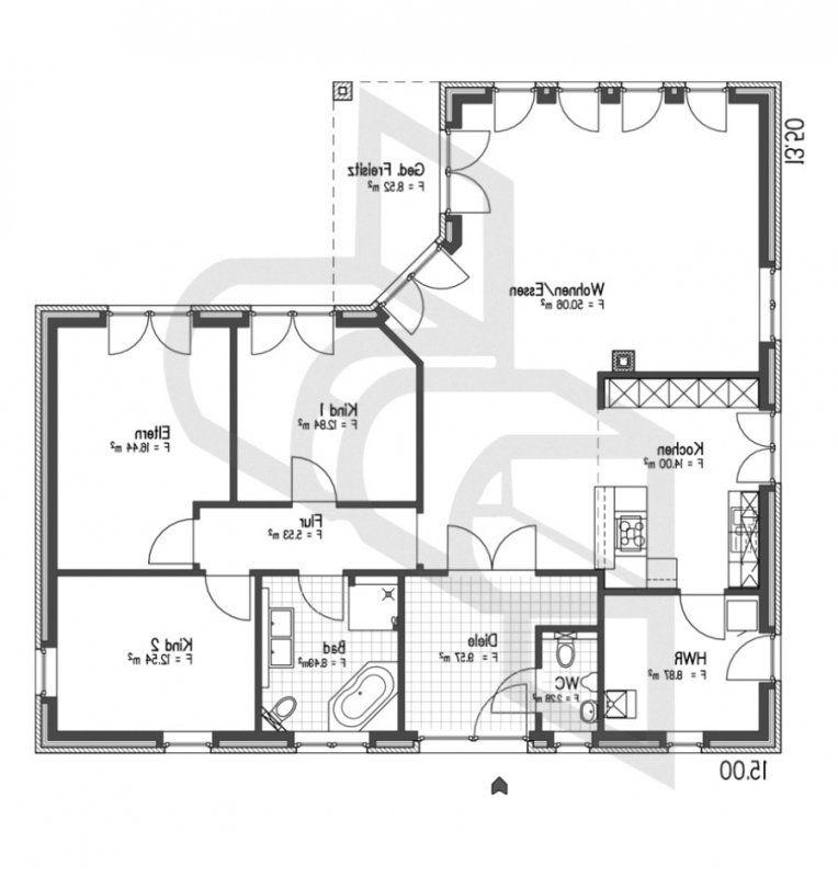 Innenarchitektur Geräumiges Grundriss Bungalow Mit Turmzimmer Avec von Grundriss Bungalow 160 Qm Photo