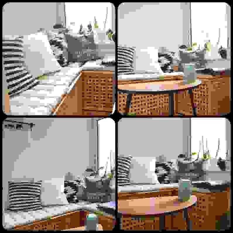 Innenarchitektur Kleines Balkon Sitzbank Kleinen Balkon Ist Das von Sitzbank Mit Stauraum Für Balkon Bild