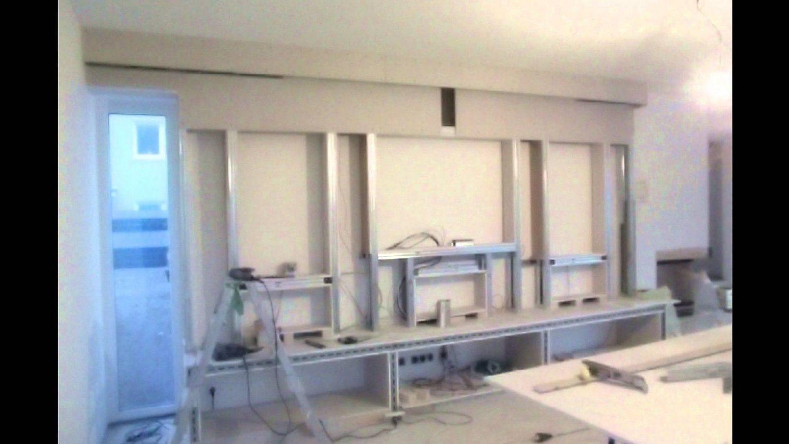 Innenausbau Design Multimedia Tv Wand Trockenbau  Youtube von Tv Wand Selber Bauen Kosten Bild