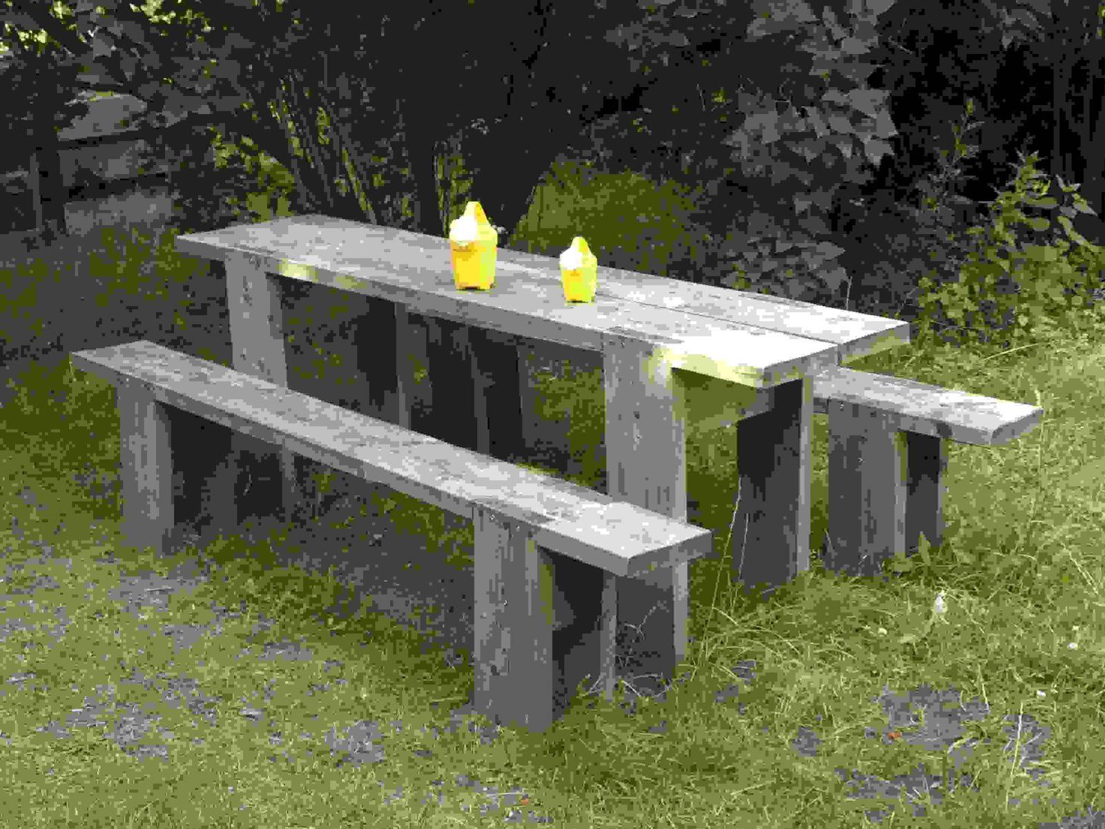 Inspiration Gartenbank Holz Massiv Bauanleitung Designideen von Tisch Bank Kombination Bauanleitung Bild
