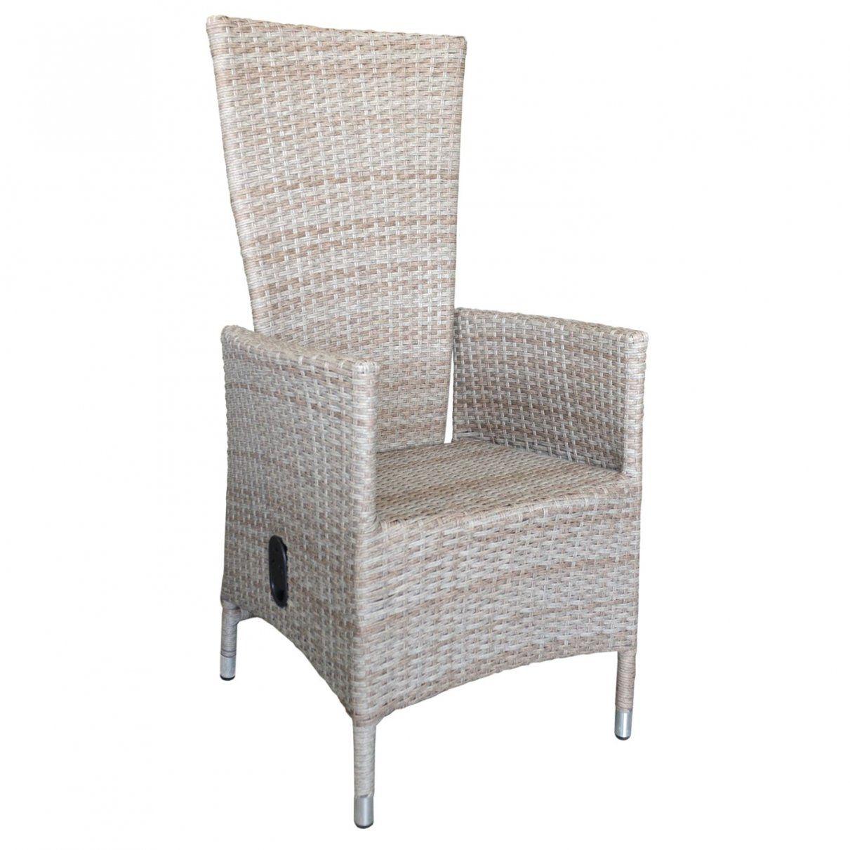 Inspirierend Polyrattan Sessel Lea Natur Stufenlos Verstellbare von Rattansessel Mit Verstellbarer Rückenlehne Bild